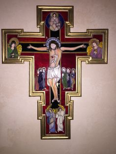 The Crucifix Mosaic by Melissa Czekaj Created from a painting of The Crucifix by Miguel Sandial located at Saint Paul Catholic Church in Valparaiso, IN