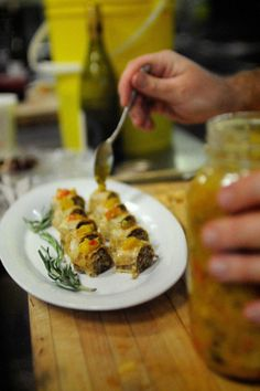 FoodiePages presents Jamie Kennedy's Tourtiere Strudel Strudel, Appetizer Recipes, Appetizers, Mustard Pickles, Smoked Turkey, Canapes, Finger Foods, Main Dishes, Finger Food