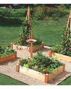 Now we're talking! A raised bed garden that I could actually afford!