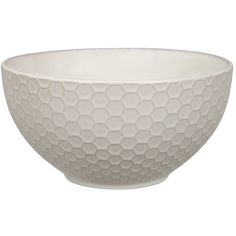 Tokyo Design Studio Textured Honeycomb Cereal Bowl - White ($12) ❤ liked on Polyvore featuring home, kitchen & dining, dinnerware, white porcelain bowl, honeycomb bowl, porcelain dinnerware, japanese porcelain bowl and japanese porcelain dinnerware