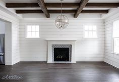 Love the white shiplap combined with the dark ceiling beams. Design credit// @artisansignaturehomes #wood #woodwork #interior #interiordesign #interiors #interior4all #design #home #homedecor #homegoals #homestyle #homedesign #house #inspiration #inspo #dreamhome #decor #homesweethome #homestyle #architecture #archilovers #instagram #instapic #instagood #instalove #white #beautiful #stunning #love #instahome #bestoftheday de house_of_jess
