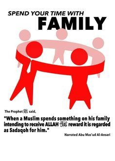 Dear parent .... fulfill your family physical and emotional need, its sadaqah