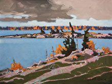 Robert Genn, artist, original landscape paintings at White Rock Gallery Islets, Parry Sound, Ontario