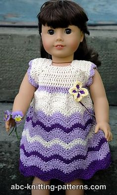 Ravelry: American Girl Doll Wisteria Chevron Dress pattern by Elaine Phillips