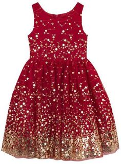 Rare Editions Red Sequin and Mesh Dress Girls Girls Christmas Dresses, Holiday Dresses, Girls Dresses, Constellation Dress, Social Dresses, Affordable Dresses, Sweater Set, Little Fashionista, Gold Sequins