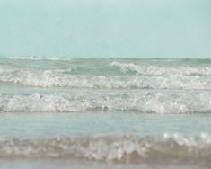 8x10 Mint Green Ocean Photography, Seafoam Wave Photo, Beach Picture, Cottage Decor, Seaside Photograph, tbteam. $25.00, via Etsy.