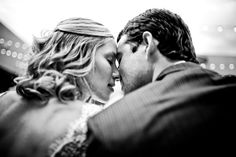 Super romantic black and white photo of couple, photo by Twin Lens