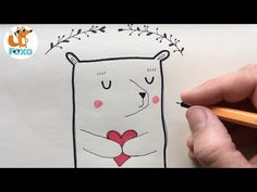 Bear drawing - How to Draw a Teddy Bear step by step - Foxo Drawing Bear Drawing, Snoopy, Teddy Bear, Drawings, Modern, Youtube, Cards, Fictional Characters, Trendy Tree