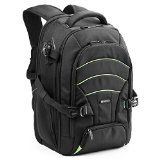 Laptop - DSLR Camera Backpack, Evecase Professional Large SLR Camera Travel Backpack with Rain Cover for Digital Cameras, Lens Kit and other Accessories (Fits up to Inch All Laptops) - Black and Green Camera Laptop Backpack, Dslr Camera Bag, Travel Backpack, Camera Case, Best Backup Camera, Best Camera, Photography Bags, Photography Accessories, Nylons