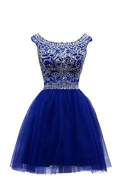 ZAHY Women's Beaded Tulle Scoop Neckline A Line Mini Party Dresses Blue 2 ZAHY http://smile.amazon.com/dp/B00XMD1IKS/ref=cm_sw_r_pi_dp_W9zMwb14VBN14