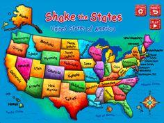 Shake the States- Fun Games for Kids Series
