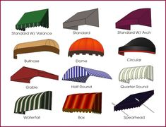 http://www.modularhomepartsandaccessories.com/awningideas.php has some information on awnings that are available in the marketplace.