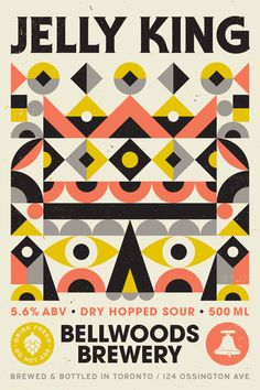 The label for Bellwoods Brewery Jelly King beer