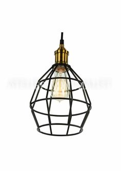 Wire Cage Pendant Lamp Color: Black Material: Matte Metal Pendant size: Diameter: Height: Save off with the purchase of Bulb not incl Pendant Lamp, A4, Bulb, Ceiling Lights, Rustic, Lighting, Metal, Home Decor, Country Primitive