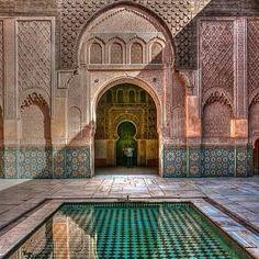 Morocco - Medersa ben Youssef in Marrakech