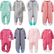 e1d61cf8c 2016 Baby Clothes Pajamas Newborn Baby Rompers Infant cotton Long Sleeve  Jumpsuits Boys Girl Spring Autumn