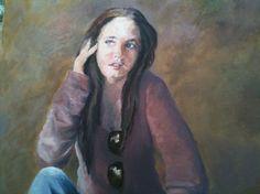 Retrato de una chica joven. Pintura al óleo. Pintado por Sonia Dupuy, pintora retratista con 20 años de experiencia. Hace retratos por encargo.