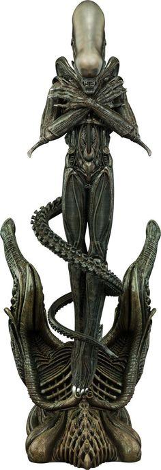 Alien Statue by Sideshow Collectibles Arte Alien, Alien Art, Hr Giger Art, Statues, Geeks, Giger Alien, Alien Covenant, Aliens Movie, Alien Vs Predator