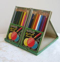 Vintage Mongol Colored Pencils Assortment No. by vintagenowandthen