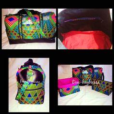 Sac Boston cousu par Dou-Kaybissa imprimé graphique et simili - patron de couture http://sacotin.com/boutique/patron-sac-boston/