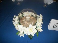 Our Beach Wedding centerpieces Beach Wedding Centerpieces, Beach Wedding Flowers, Wedding Decorations, Wedding Reception, Our Wedding, Dream Wedding, Wedding Ideas, Candle Arrangements, True 6