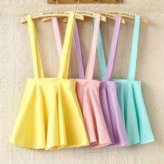 Pinned onto Cute Skirts Board in Cute Category Pastel Fashion, Yellow Fashion, Kawaii Fashion, Colorful Fashion, Girls Fashion Clothes, Tween Fashion, Teen Fashion Outfits, Cute Fashion, Cute Outfits For Kids