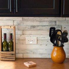 Reclaimed barnwood tiles from Mission Stone and Tile are available in several sizes and colors, including natural and whitewashed shades. Square-cut pieces closely resemble the standard tile shape, while 2x18 planks create an even more rustic effect. Photo: missionstonetile.com