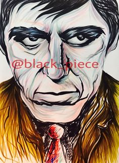 #scarface #instagram #@black_piece #draw #drawing #instagram #paint #anime #animation #animated #pen #color #gentle #scare #face