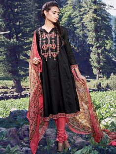 Shop Black ready made cotton festive wear ready made anarkali salwar suit online from G3fashion India. Brand - G3, Product code - G3-WSS12497, Price - 3195, Color - Black, Fabric - Cotton,
