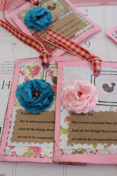 How to make an English cabbage rose with tissue paper for scrapbooking and handmade tags  - using 1 1/4 inch scallop punch
