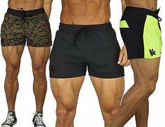 Men's BODYBUILDING RUNNING SHORTS GYM TRAININ...