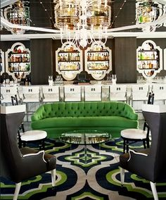 Love this cocktail lounge by Kelly Wearstler