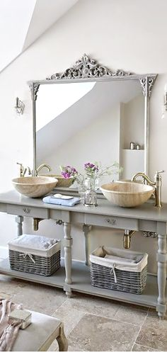 Gorgeous Grays ● Bathroom. So pretty