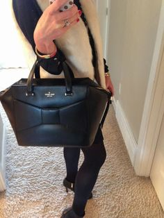 Kate Spade structured bow bag
