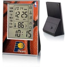 Indiana Pacers Basketball Design Digital Clock by Keyscaper, Multicolor