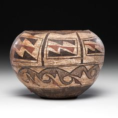 Зуни, конец 19 века. Southwest Pottery, Pueblo Pottery, Native American Pottery, American Indians, Nativity, Arts And Crafts, Mexico, Clay, Vase