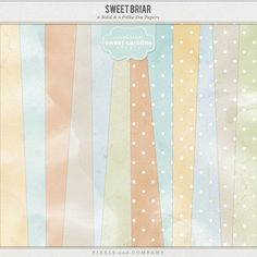$4.00 Solid and Polka-dot Digital Scrapbook papers for DIgital Scrapbooking, in soft pastels, perfect for baby and childhood albums. Slightly distressed with a watercolor effect.