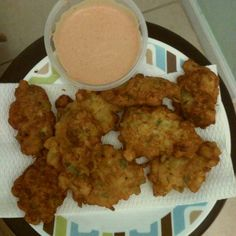 Conch Fritters - This is a traditional Bahamian recipe that is made with conch, this wonderful shellfish that is delicious but so hard to find out from the Bahamas. Conch Recipes, Fish Recipes, Seafood Recipes, Appetizer Recipes, Cooking Recipes, Seafood Diet, Seafood Meals, Seafood Appetizers, Antigua