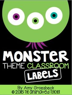 Accent and organize your monster themed classroom with this editable label set! This pack includes nine premade label sets and bulletin board headers in black, accented with bright colored monster graphics for a pop of color. Six editable templates are also included so you can customize labels to meet the needs of your classroom.Check out the preview for a more detailed look!Heres what youll get:Premade Sets:1.