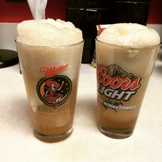 Spiked butter beer  Carmel flavored syrup Cream soda Vanilla ice cream (Optional) 1 shot spiced rum
