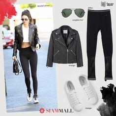 #CopiaElLook de #KendallJenner con prendas que puedes conseguir en #SiamMall #Moda MANGO lefties Sunglass Hut