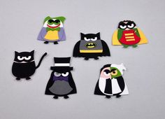 Punch Art Batman Characters by SnippetsByDesign - Cards and Paper Crafts at Splitcoaststampers
