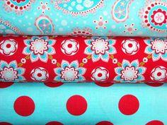 red aqua fabric paisley - Google Search