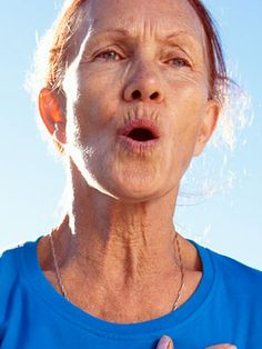 Pursed-Lip Breathing for COPD---One way to slow down the progression of COPD is to keep your chest muscles active through aerobic exercise, stretching, strengthening, and special breathing exercises.
