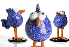 Raquel Stanek says she draws inspiration from real animals to create playful mosaics like this trio of goggle-eyed chicks. Click on the image to learn more about Raquel Stanek.