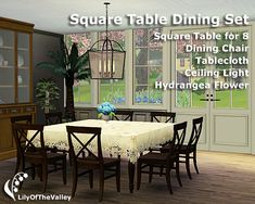 LilyOfTheValley's Square Table Dining Set