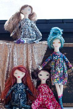 novamelina - My first patch of dolls i handcrafted with love :)  #clothdoll #handmade #doll #heirloomdoll #ragdoll #madewithlove #sewing #libertyartfabrics #libertyprints