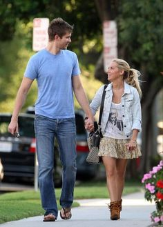 Ashley Tisdale & Scott Speer... This is so cute,a tall guy and shirt girl :)