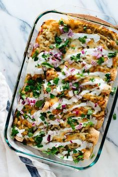 roasted sweet potato + black bean enchiladas with salsa verde sauce. Amazing black bean and sweet potato enchiladas, smothered in salsa verde. A delicious, hearty vegetarian entrée. Recipe yields 10 enchiladas, enough for about 5 servings. Veggie Recipes, Mexican Food Recipes, Whole Food Recipes, Cooking Recipes, Healthy Recipes, Vegetarian Sweet Potato Recipes, Chicken Recipes, Healthy Chicken, Healthy Meals