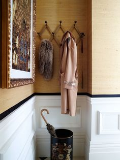 Entryway details in Elspeth Lynn's London townhouse-apartment - Architectural Digest
